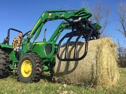 tractor loader round bale grabber premier
