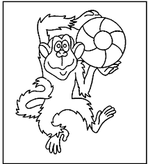 free printable monkey printable monkey coloring pages