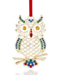 heartwood creek snowman with owl hanging ornament