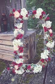wedding backdrop initials rustic bohemian floral initials wedding decor deer pearl