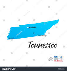 Usa State Map by Tennessee Usa State Map Stock Vector 455542891 Shutterstock