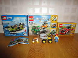 lego city jeep lego city racerbåt lego creator 3 in 1 bil jeep lastbil traktor