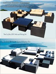 modern euro furniture outdoor wicker sectional sofa sets