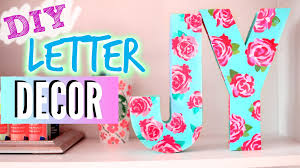 diy room decorations easy floral block letters youtube