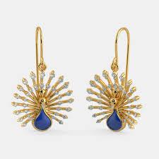 feather earrings online india drops earrings buy 400 drops earring designs online in india