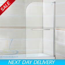 180 pivot radius frameless glass over bath shower screen door 180A pivot radius frameless glass over bath shower screen door panel rd814c