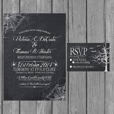 halloween wedding invitation chalkboard engagement party