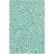 Area Rugs Blue And Green Style Floral Splash Blue Green Ivory Indoor Outdoor Area