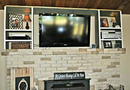 Fireplace Rack Lowes by Decorating Lowes Airstone Surround The Fireplace Under The Tv