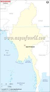 Blank Map Of Spain by Outline Map Of Myanmar Burma