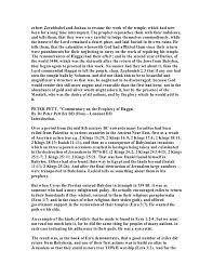 Resume The Work Haggai 1 Commentary