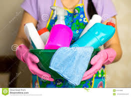 household chemicals the means for cleaning the house stock photo
