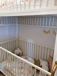 Loft Bed With Crib Underneath Crib Bunk Bed Hacked From Ikea Gulliver Cots Ikea Hackers