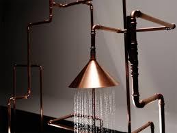 Bath Fixtures As Art 2 Inspiring Re Imagined Showers Copper Bathroom Copper Bathroom Fixtures