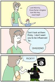 Ricky Meme - ricky the refugee don t look at them ricky know your meme