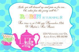 tea party invitation wording reduxsquad com