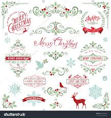 ornate frames swirl elements merry stock vector