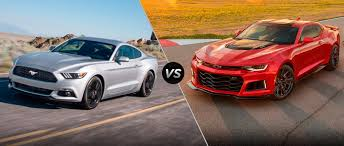 mustang camaro 2017 ford mustang vs 2017 chevy camaro