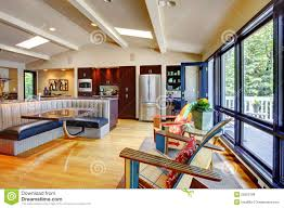 luxury home interior design photo gallery open modern luxury home interior living room and kitchen royalty
