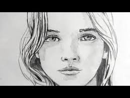 how to draw a female face narrated youtube