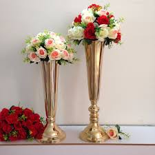 Wholesale Vases For Wedding Centerpieces Online Get Cheap Gold Vases For Centerpieces Tall Aliexpress Com