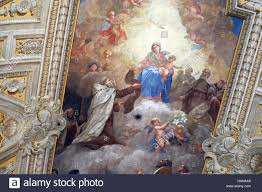 santa and baby jesus picture with baby jesus and carmelite saints ceiling of santa