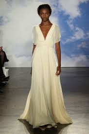 minimalist wedding gown from pronovias