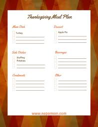 thanksgiving thanksgiving dinnerenu ideas recipes free templates