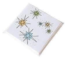paper napkins sputnik retro atomic starburst 50 s style paper