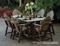 Square Patio Table by Furniture Ideas Composite Patio Furniture With Round Patio Table