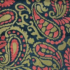 Paisley Home Decor Fabric by Upholstery Fabric Sydney Cosmo Textured Chenille Modern