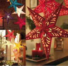 christmas hanging decorations three dimensional laser hollow