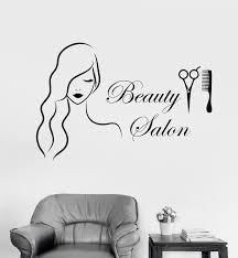 vinyl wall decal beauty salon barbershop hairdresser stickers