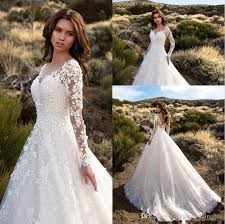 wedding dresses with sleeves uk discount 2017 gorgeous ivory sheer sleeves wedding dresses