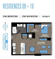 One Bedroom Floor Plan Studio To Penthouse South Loop Apartments For Rent 1000 South