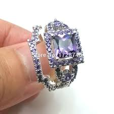 Amethyst Wedding Rings by Aliexpress Com Buy Sz5 10 White Gold Filled Princess Square Cut
