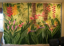 Painting For Dining Room by Tropical Flower Mural Painting For Dining By Design Wall Mural