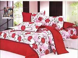 bedroom dark brown wooden framed bed in sweet floral bed sheets