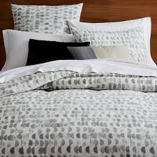gray bedding west elm