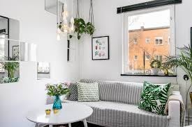 scandinavian small apartment with a touch of nature is a huge