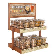 custom wood display rack wine racks store fixtures retail