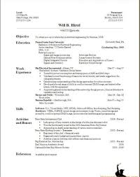Summer Job Resume Sample How To Make A Resume For Summer Job Free Resume Example And