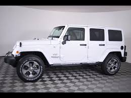 jeep sahara white 2017 white jeep wrangler in ohio for sale used cars on buysellsearch