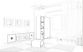 sketch room modern living room sketches interior design