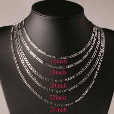 plated necklace chains images 1pcs 4mm 16 24inch silver plated necklace men jewelry figaro jpg