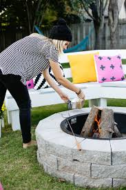 Simple Backyard Fire Pit by Make Your Own Fire Pit In 4 Easy Steps U2013 A Beautiful Mess
