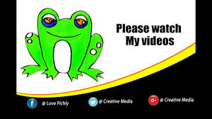 colours for kids how to draw frog coloring pages videos