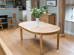 solid oak round extending dining table zenboa