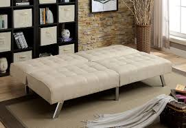 Marilyn Monroe Bedroom Furniture Arielle Beige Linen Like Fabric Futon W Biscuit Style Tufting