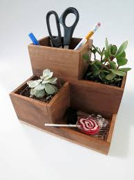 Desk Organizer Diy by Desktop Organizer And Succulent Planter Planters Woodworking